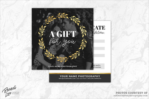 Formal Photography Gift Certificate Template