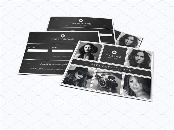 Fully Editable Photography Gift Voucher Template