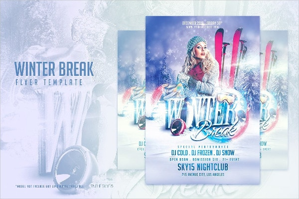 Big Frozen Flyer Template Bundle