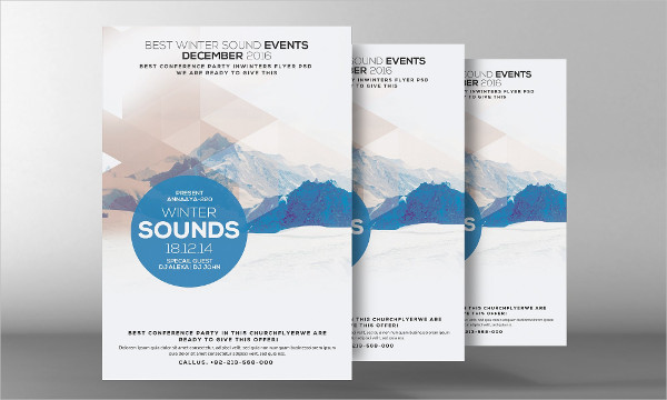 Minimal Frozen Flyer Template