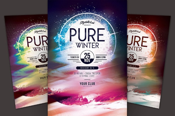 Pure Frozen Flyer Template