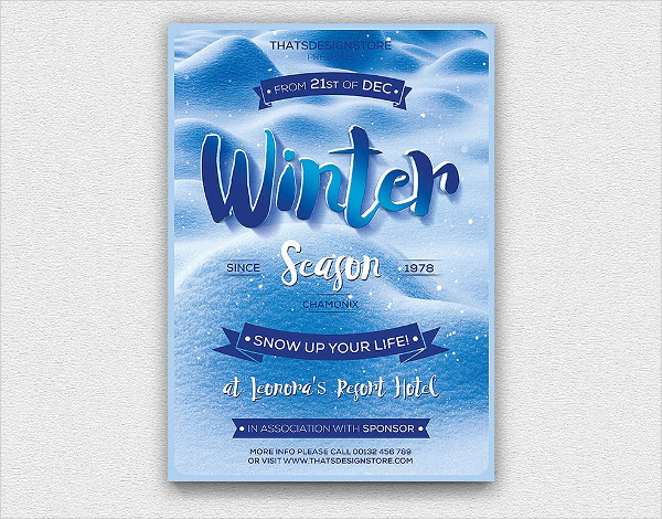 Winter Season Flyer Template