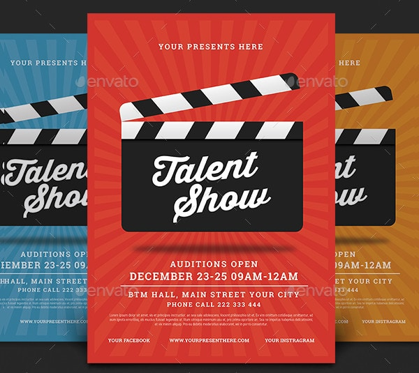 Cool Talent Show Poster or Flyer
