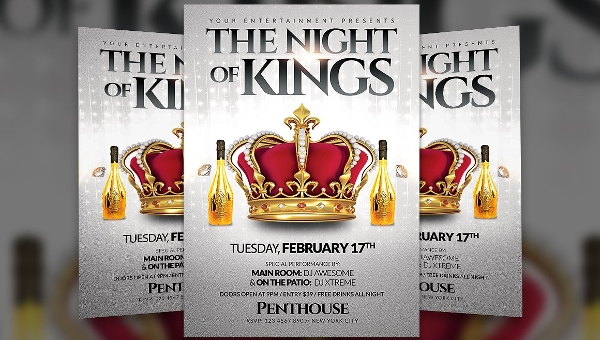 Kings Party Flyer Template