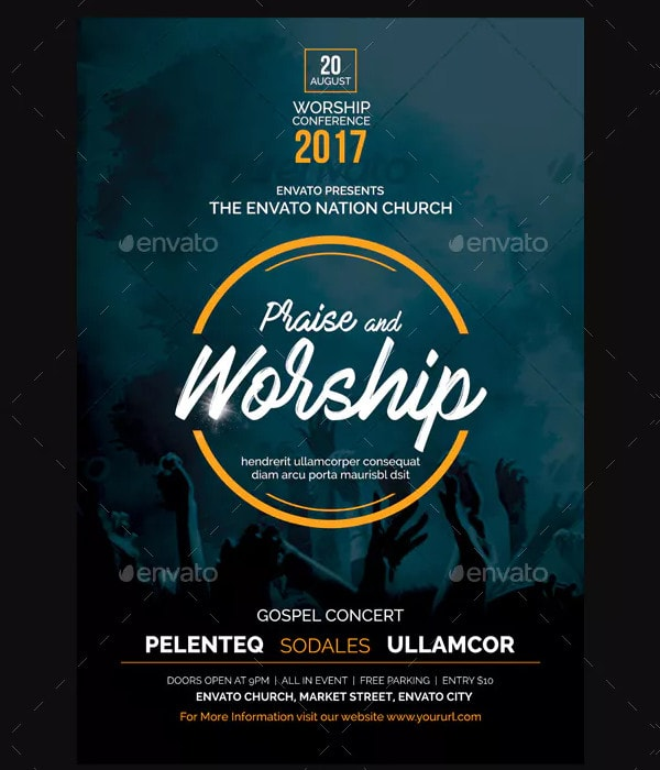 Cool Worship Flyer Template