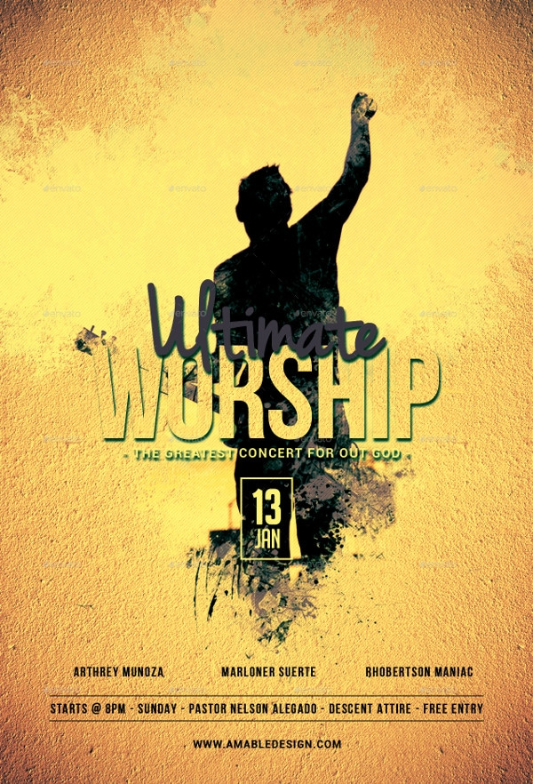 Ultimate Worship Flyer Template