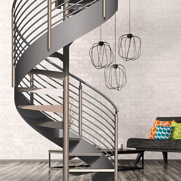 Modern Metal Spiral Staircase