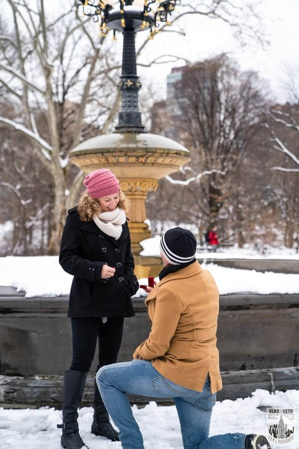 Photo 3 Same sex couple proposal at Cherry Hill in Central Park | VladLeto