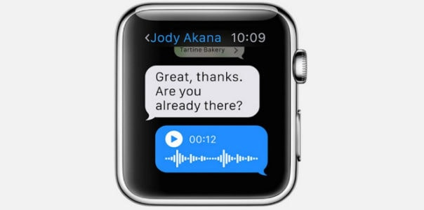 How to send voice message from Apple watch
