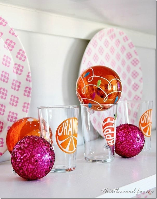 pink-and-orange-Christmas-ornaments