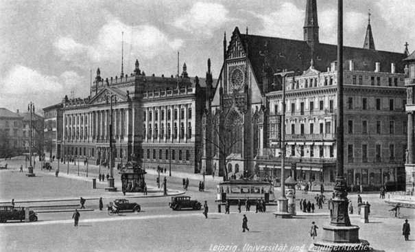 University of Leipzig with St Pauls Church