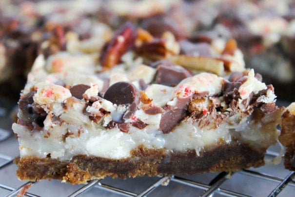 Peppermint Magic Cookie Bars