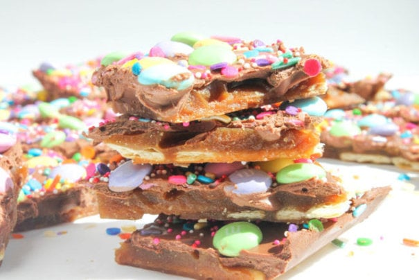 Springtime Chocolate Toffee Bark