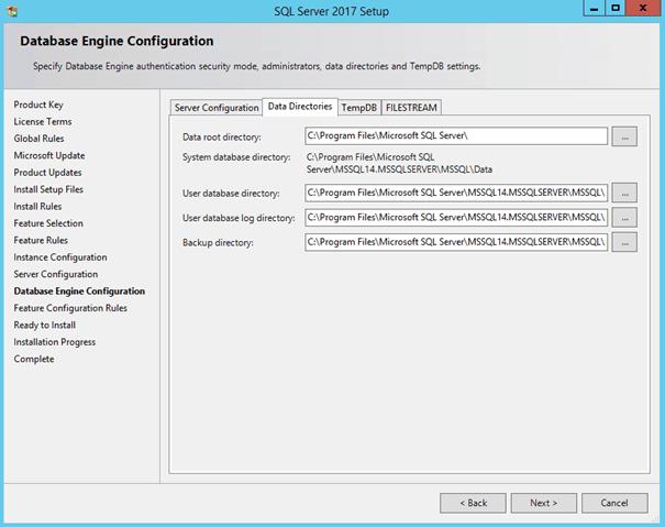 SQL Server 2017 Setup