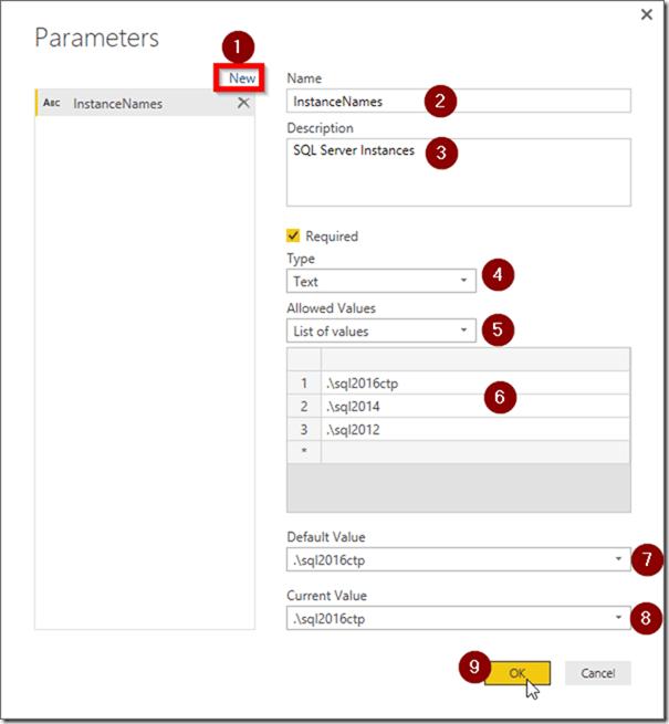 Power BI Desktop Manage Parameters 02
