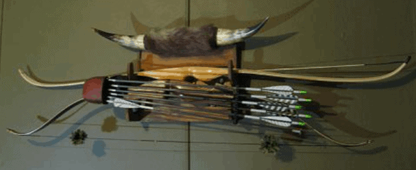 proper way to hang the bow on the wall