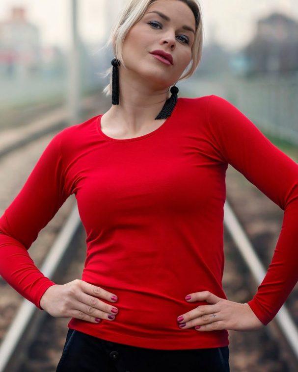 Дамска блуза червен цвят