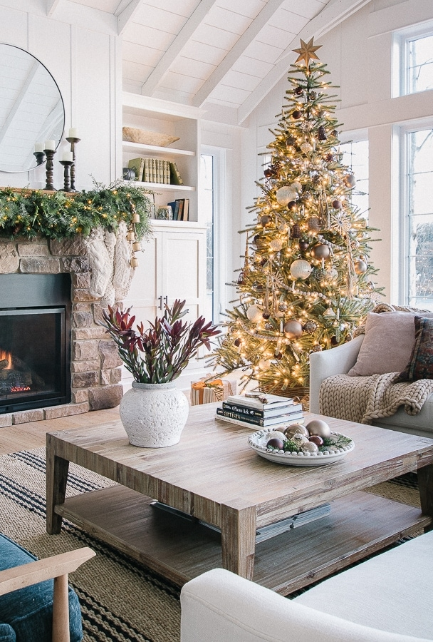 Bronze and neutral Christmas tree