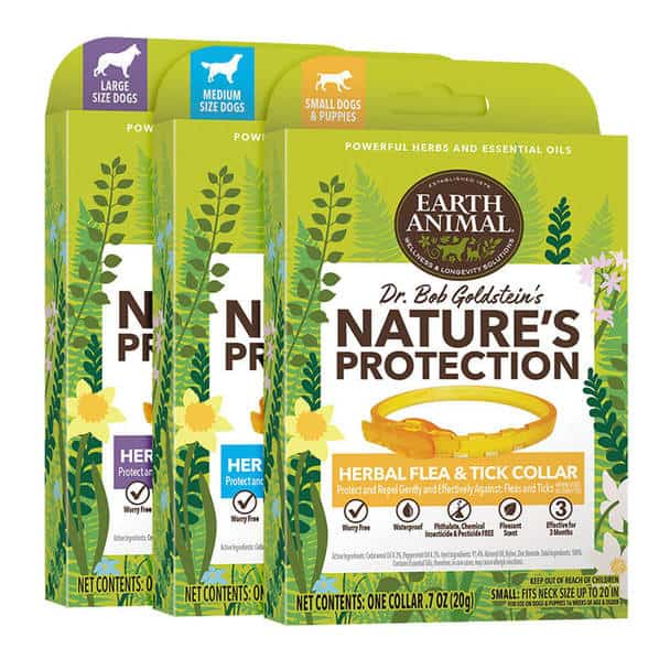 Dr Bob Goldstein Earth Animal Nature Protection Herbal Flea Tick Collar Safe Gentle