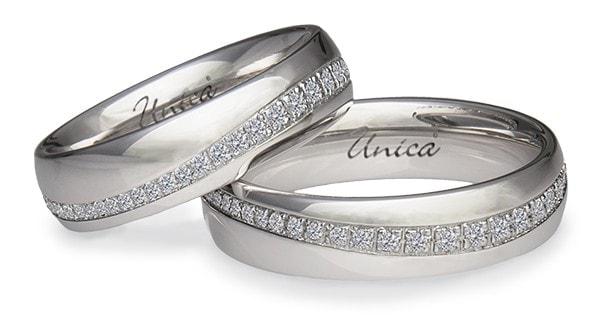 Fedi matrimoniali con diamanti UNICA