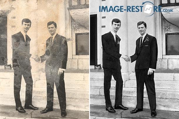 Mouldy wedding image restored