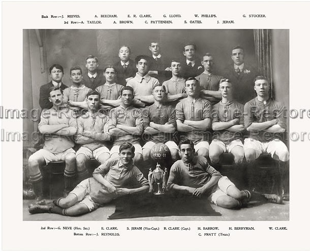 Balliol Invicta Football Club 1910-1911 Division one Winners for Southwark and District