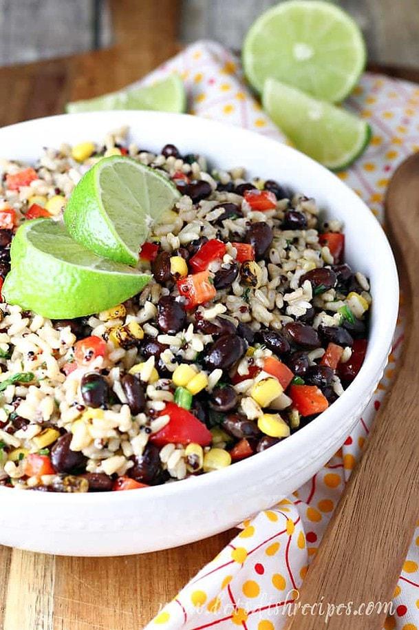Southwest Quinoa and Rice Salad