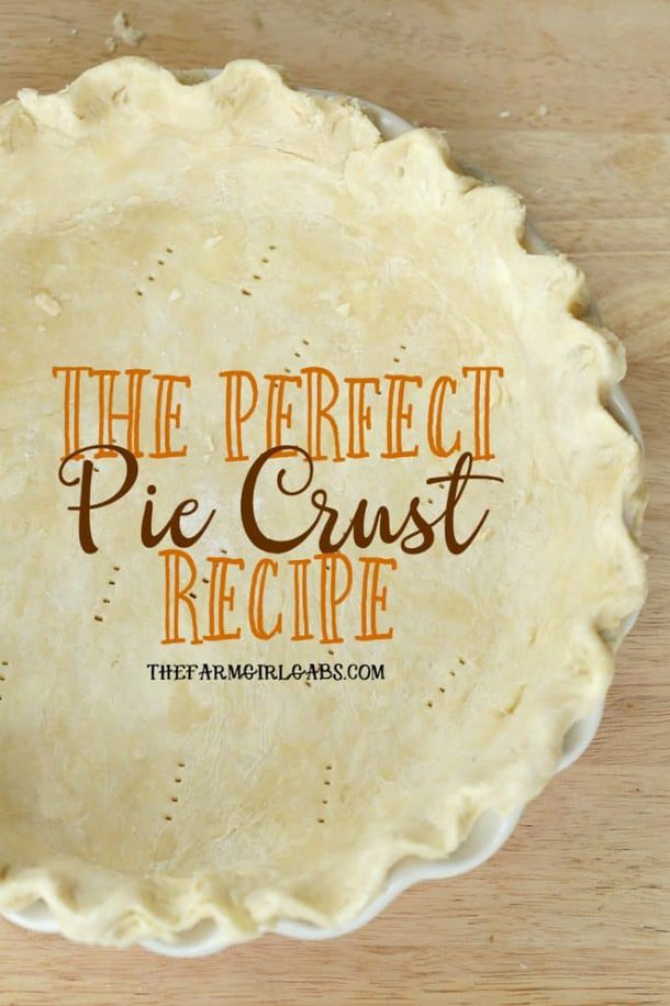The perfect pie starts with the perfect pie crust. This Perfect Pie Crust Recipe is super easy and delectably flaky. #piecrust #baking #recipes #pierecipe #applepierecipe #applepie #Thanksgivingtable #holidaybaking #holidayrecipes #TheFarmGirlGabsThanksgiving #TheFarmGirlGabsChristmas