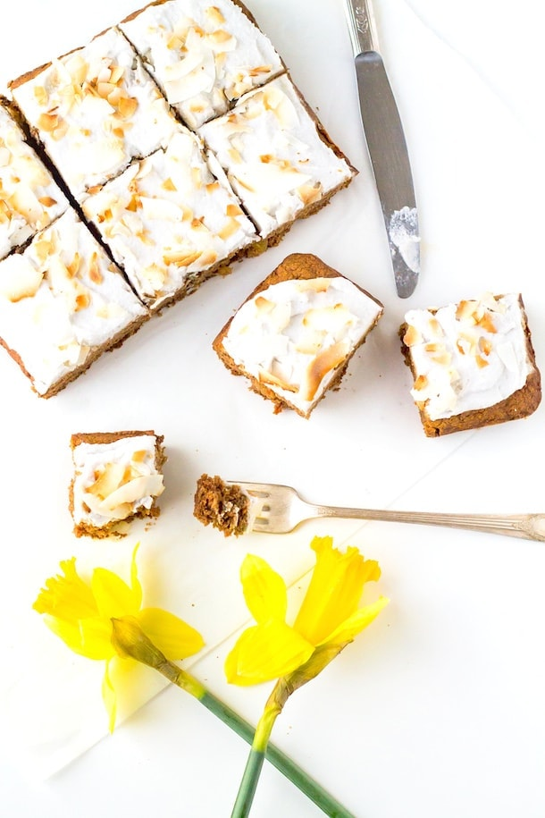 Carrot Cake with Coconut Frosting