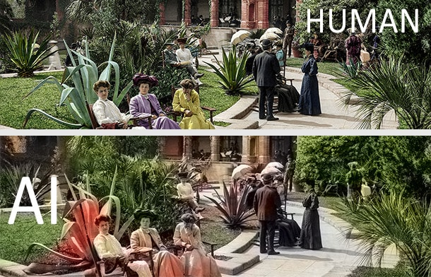 AI colorizing human vs AI