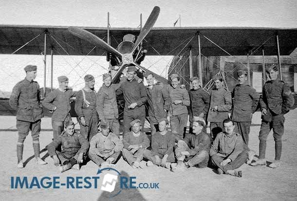 Royal Flying Corps crews and staff