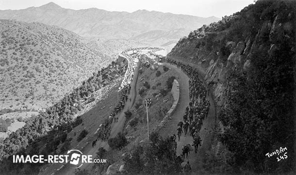 Convoy from Bannu to Razmak (76 Miles) (1936) - 6 Miles from Razmak