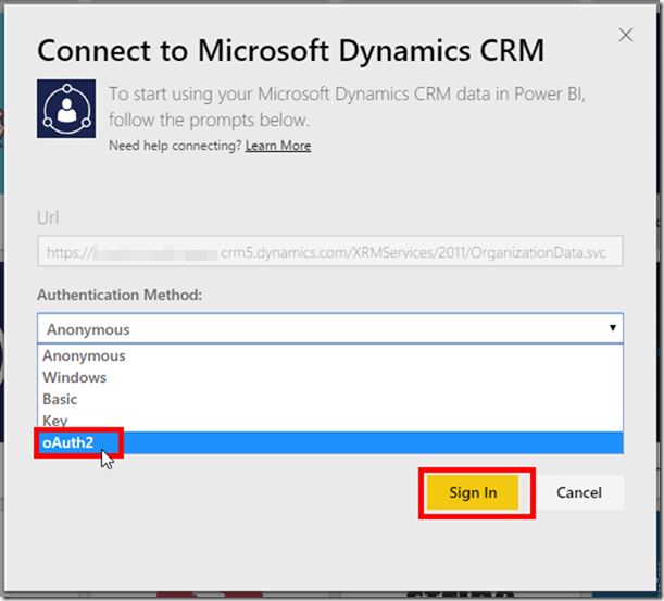 Power BI CRM Connector 4
