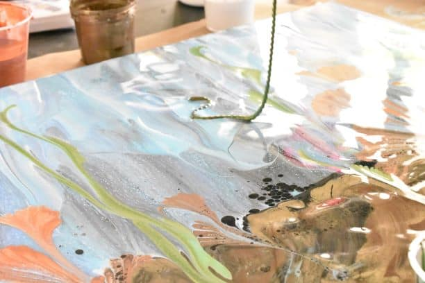 How To Make An Underwater Painting With Acrylic Pouring Homebody Hall