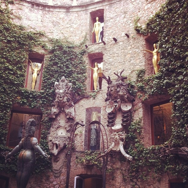 courtyard of Dali's museum in Figueres