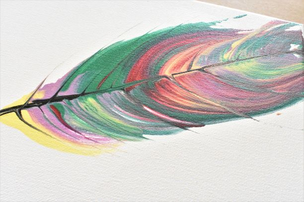 Acrylic Pour feather