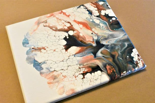 Day 8 Acrylic Pouring Color Theory Series, dutch pour