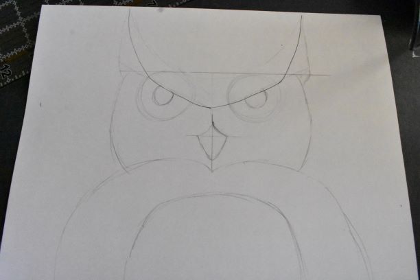 step by step owl pencil drawing