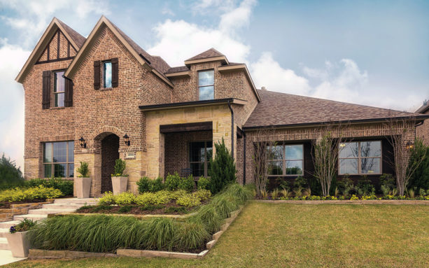 brown shutters for brown brick house