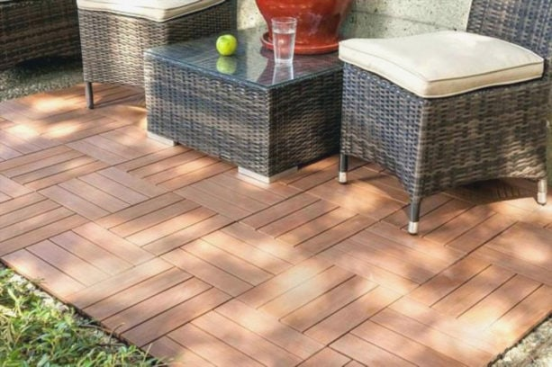 interlocking patio tiles over grass and composite patio tiles interlocking over grass deck series on picture