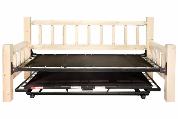 Montana Woodworks MWHCDBT Homestead Collection Day Bed with Pop Up Trundle Bed, Ready to Finish