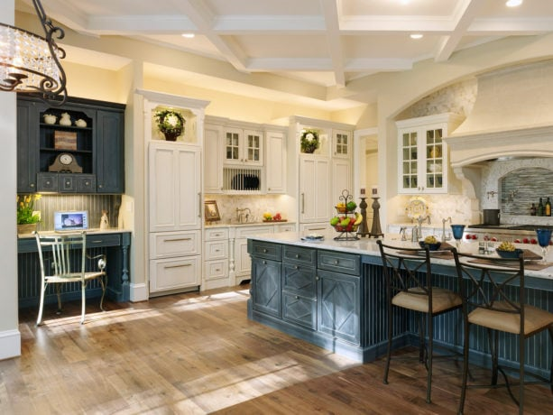 lovely eggshell blue gray kitchen cabinets with kashmir white countertops