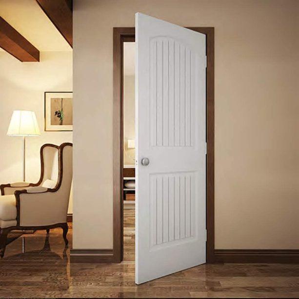 dark stained wood door and white door combo can create a cozy look
