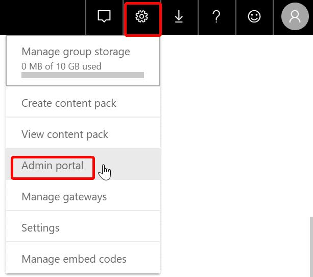 Power BI Service Admin Portal
