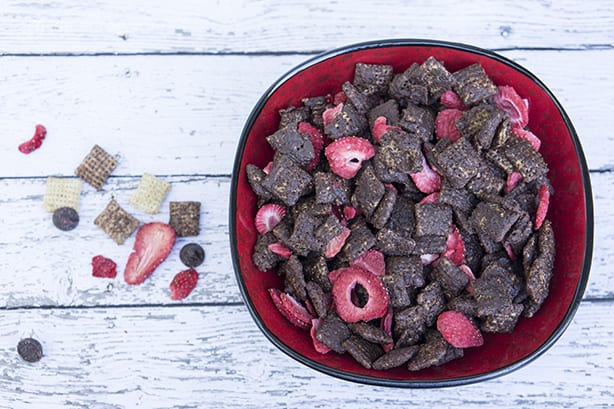 Dark Chocolate Strawberry Chex Party Mix