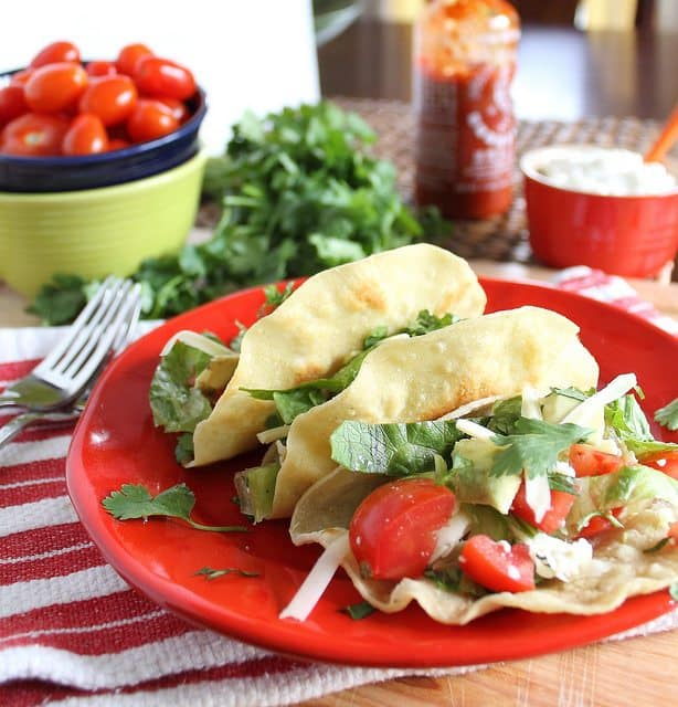 Easy fried chicken tacos for Taco Tuesday!