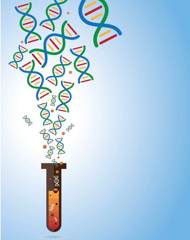 Cell-free DNA illustration