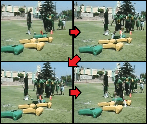 defensive football drill