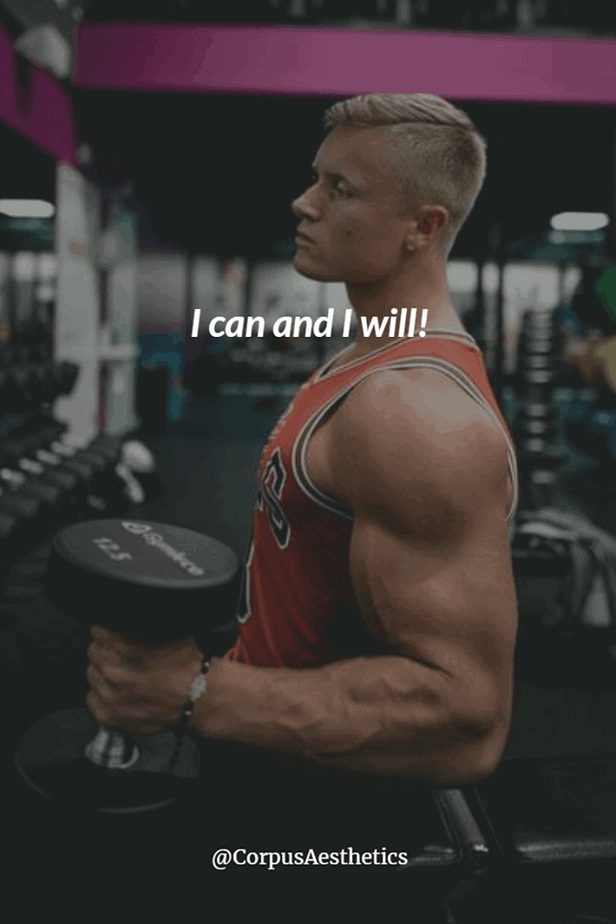 weight lifting motivational quotes, I can and I will, a guy in the gym has a weightlifting training