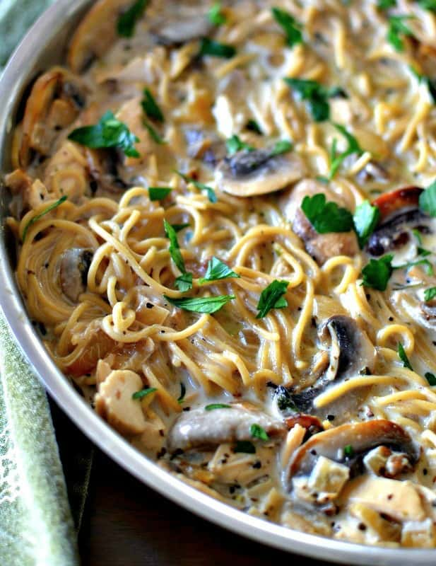 Scrumptious Chicken Mushroom Pasta